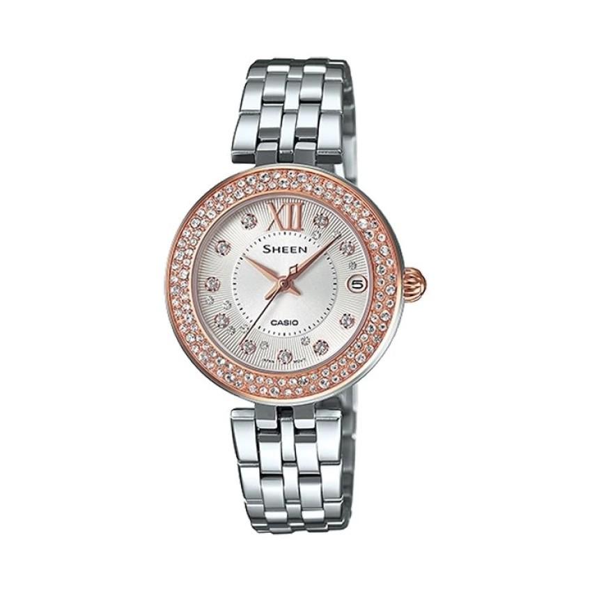 Casio นาฬิกาผู้หญิง สายสแตนเลส รุ่น SHE-4515D-1