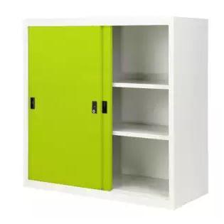 ตู้บานเลื่อนทึบเหล็ก เก็บเอกสาร 3 ฟุต ขนาด 88 x 40 x 88 cm