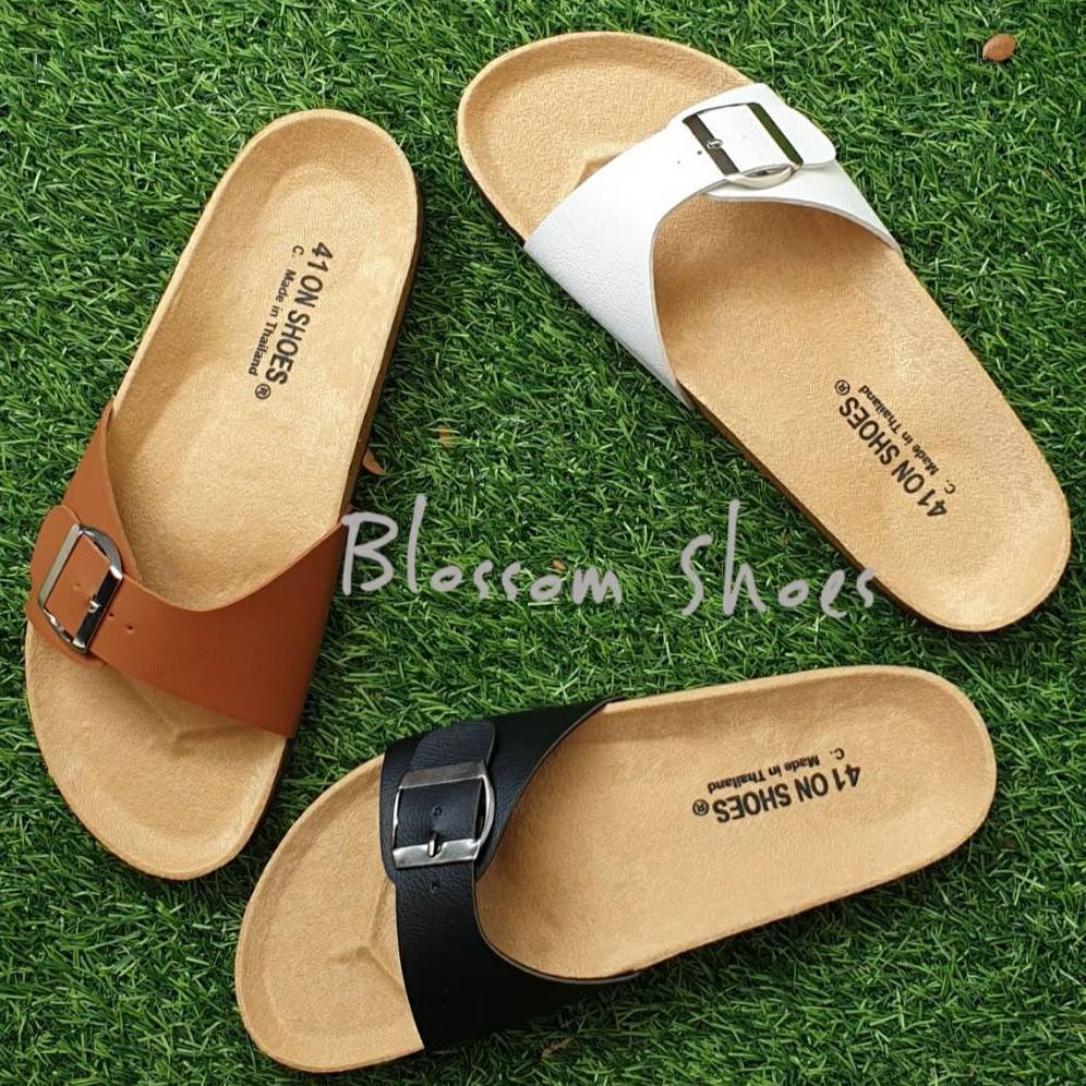 รองเท้าแตะไซส์ใหญ่⌵ รองเท้าแตะ ฺBikenStock 1Step /2step ไซส์ใหญ่ 41-43 สายปรับระดับได้