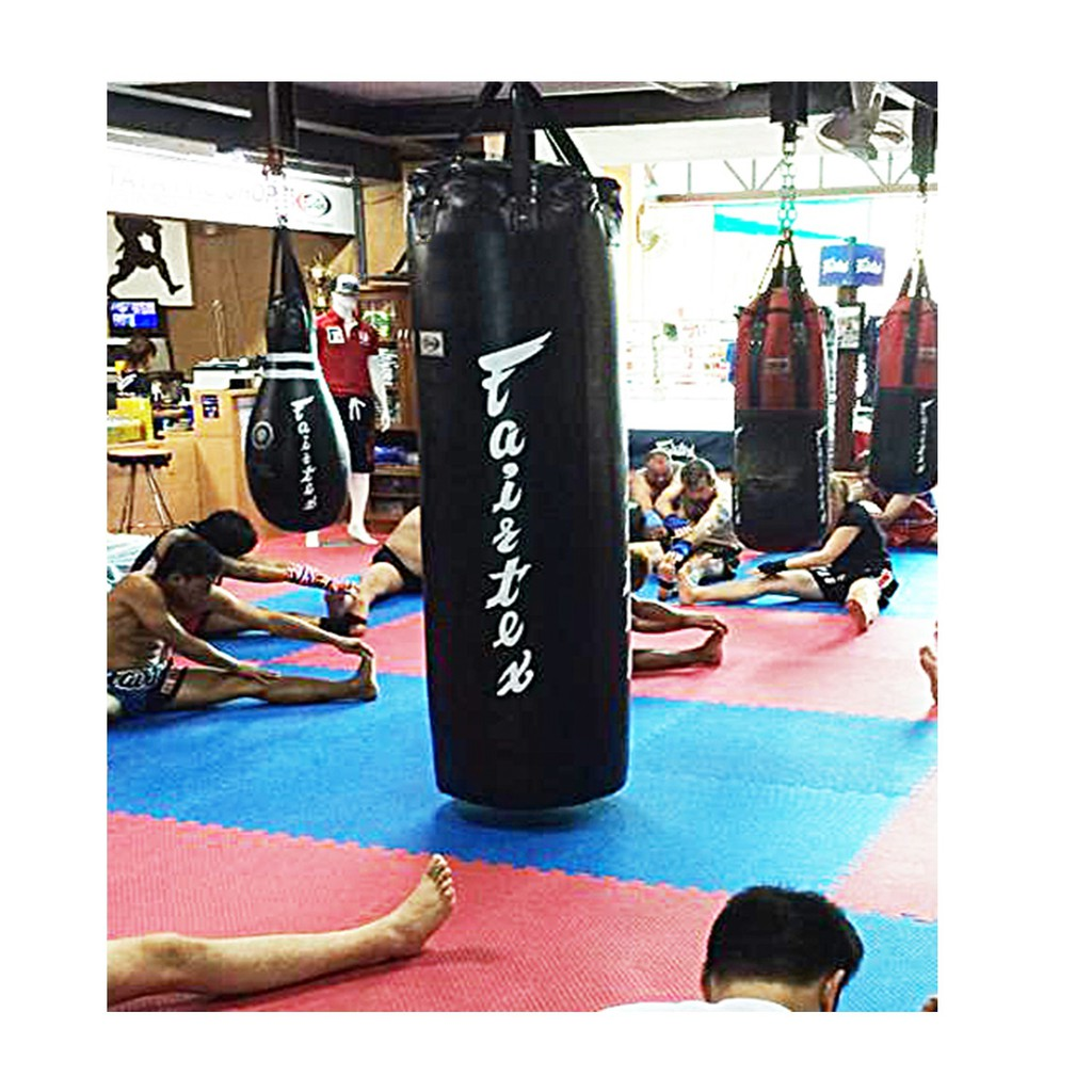 FAIRTEX HEAVY BAG HB7 7 FEETS  BLACK RED YELLOW GREEN MUAY THAI MMA K1 UN-FILLED