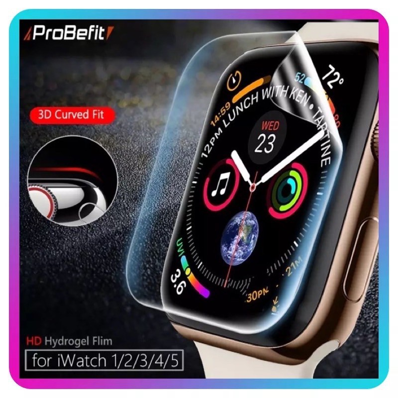 AppleWatch Series 6 SE /5/4/3/2/1 38mm 40mm 42mm 44mm HD Screen Protector Thin Hydrogel film ป้องกันหน้าจอ