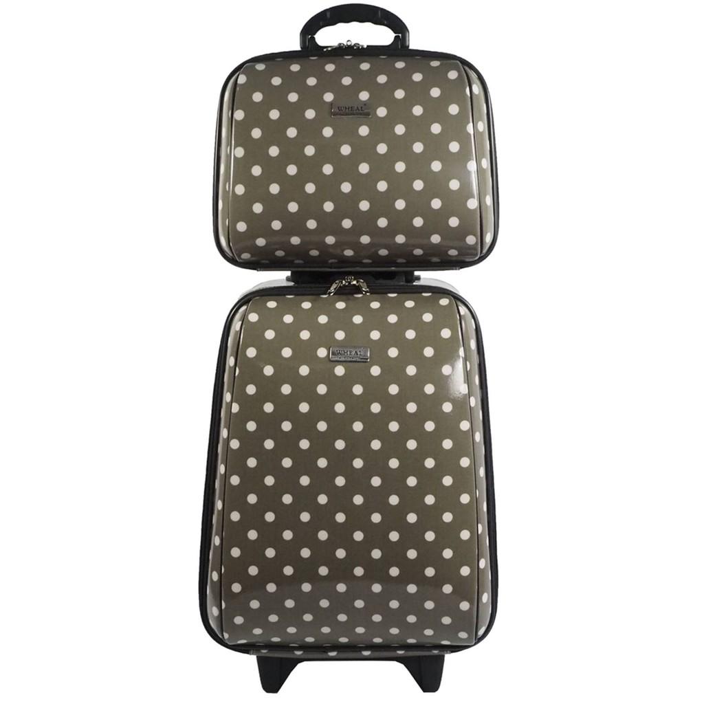 กระเป๋าเดินทางล้อลาก ขนาด 18 นิ้ว และ 14 นิ้ว รุ่น 7719  (Grey) 84Vm