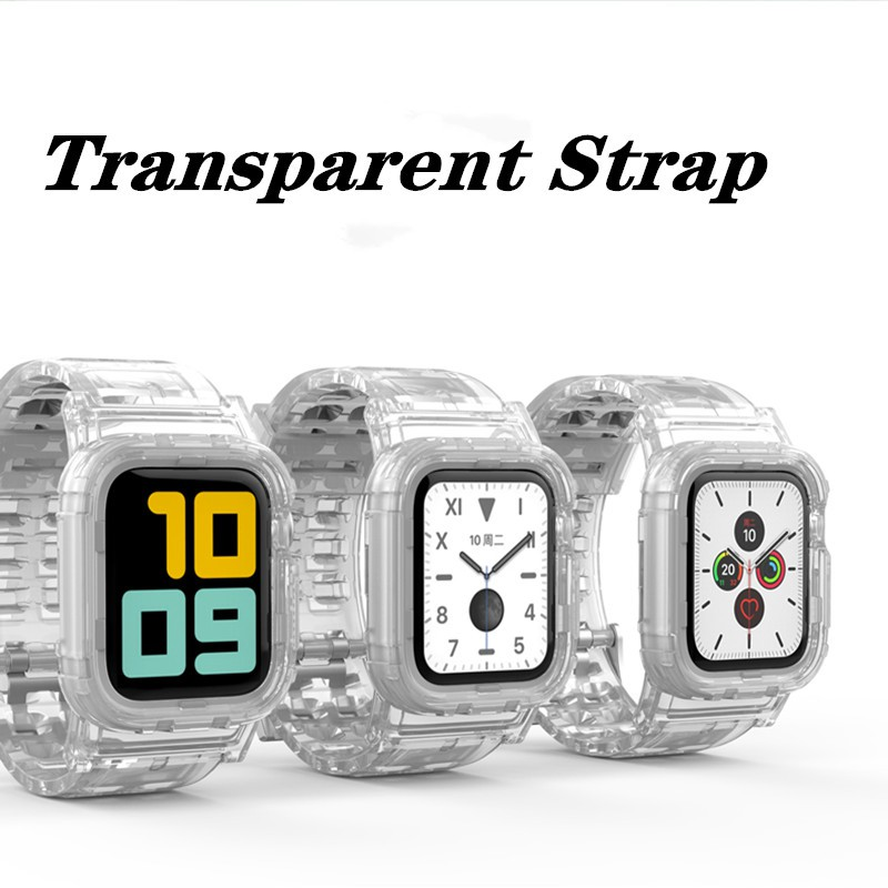 Apple Watch Strap for iWatch Series 5/4/3/2/1 38mm 40mm 42mm 44mm Transparent Strap fF89
