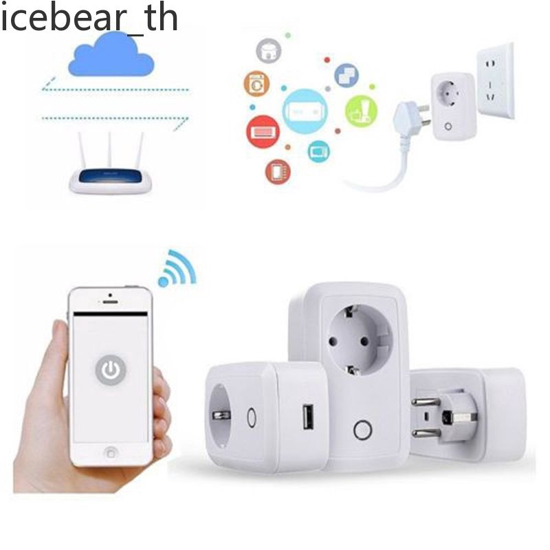 Wireless WiFi Remote Control Socket Smart Timer Plug BY APP ewelink