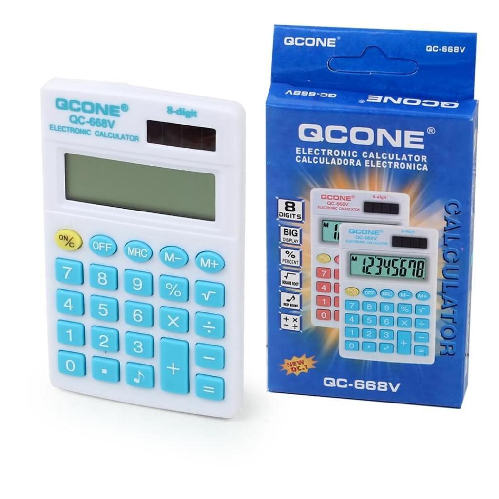 Telecorsa เครื่องคิดเลข  ขนาดเล็ก 8 หลัก QCONE  QC-668V รุ่น QC-668V-05c-Calelecorsa เครื่องคิดเลข  ขนาดเล็ก 8 หลัก QCON