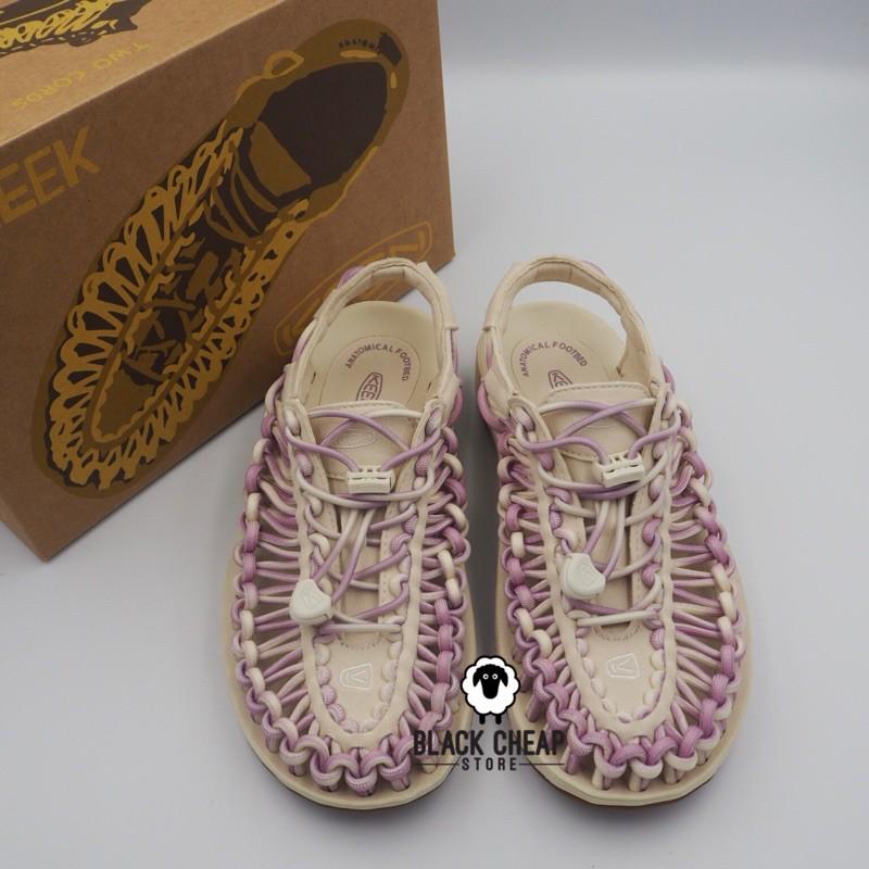 พร้อมส่ง (ของแท้ 100%) Keen Women รองเท้า Uneek White Birch/Dawn Pink