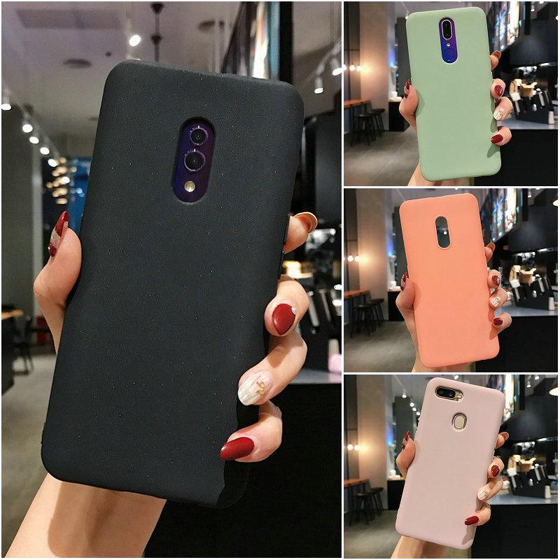 เคส Samsung A9 A7 A8 A8+ A6 A6+ A01 S10 S10e S10 Note 10 Pro Plus Lite Candy solid color soft case