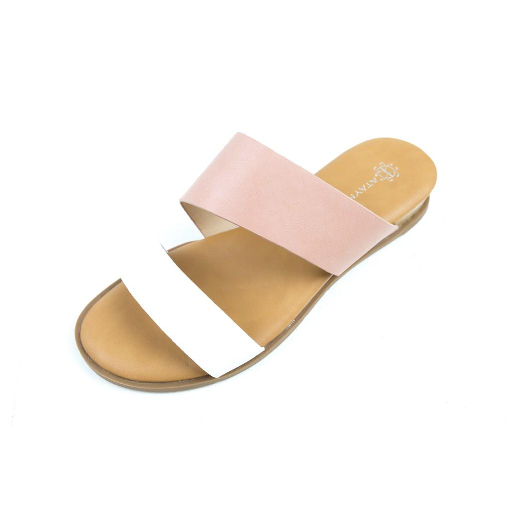 ATAYNA Lady รองเท้าแตะสตรี รุ่น AS0115 สีชมพูขาว