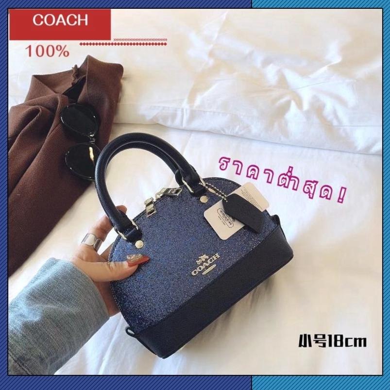 NEW!coach แท้ bag กระเป๋าสะพายข้าง women handbag sling bag women กระเป๋า forever