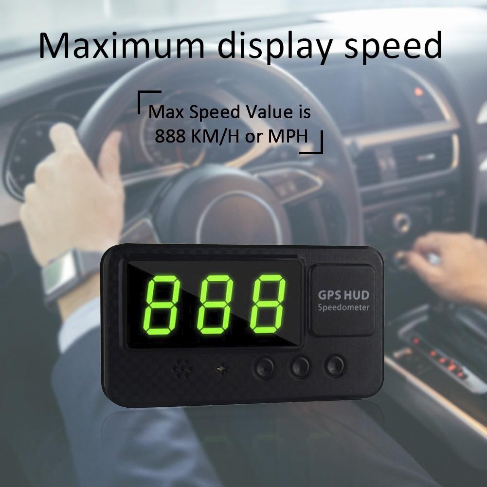 C 60 s เครื่องวัดความเร็วดิจิตอล GPS สำหรับรถยนต์