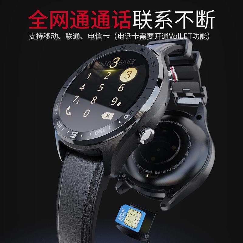 applewatch series 6✶❀◘นาฬิกาโทรศัพท์สมาร์ทการ์ดเครื่องนับก้าวการนอนหลับการตรวจสอบเครือข่ายการ์ด 4G เซรามิกหน้าจอกลมขนาดเ