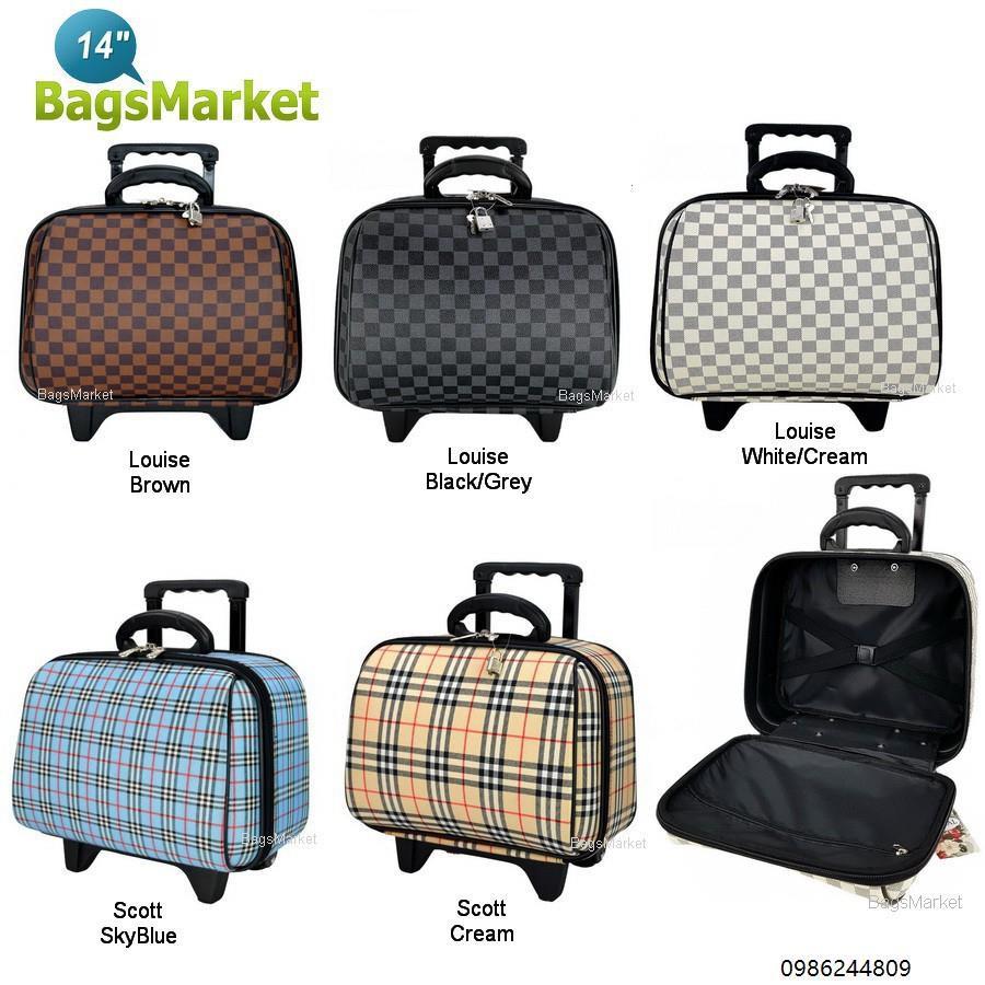 【🔥🔥🔥ถูก/แท้】 Wheal กระเป๋าเดินทางล้อลาก 14 นิ้ว Luxury Classic Brown Classic