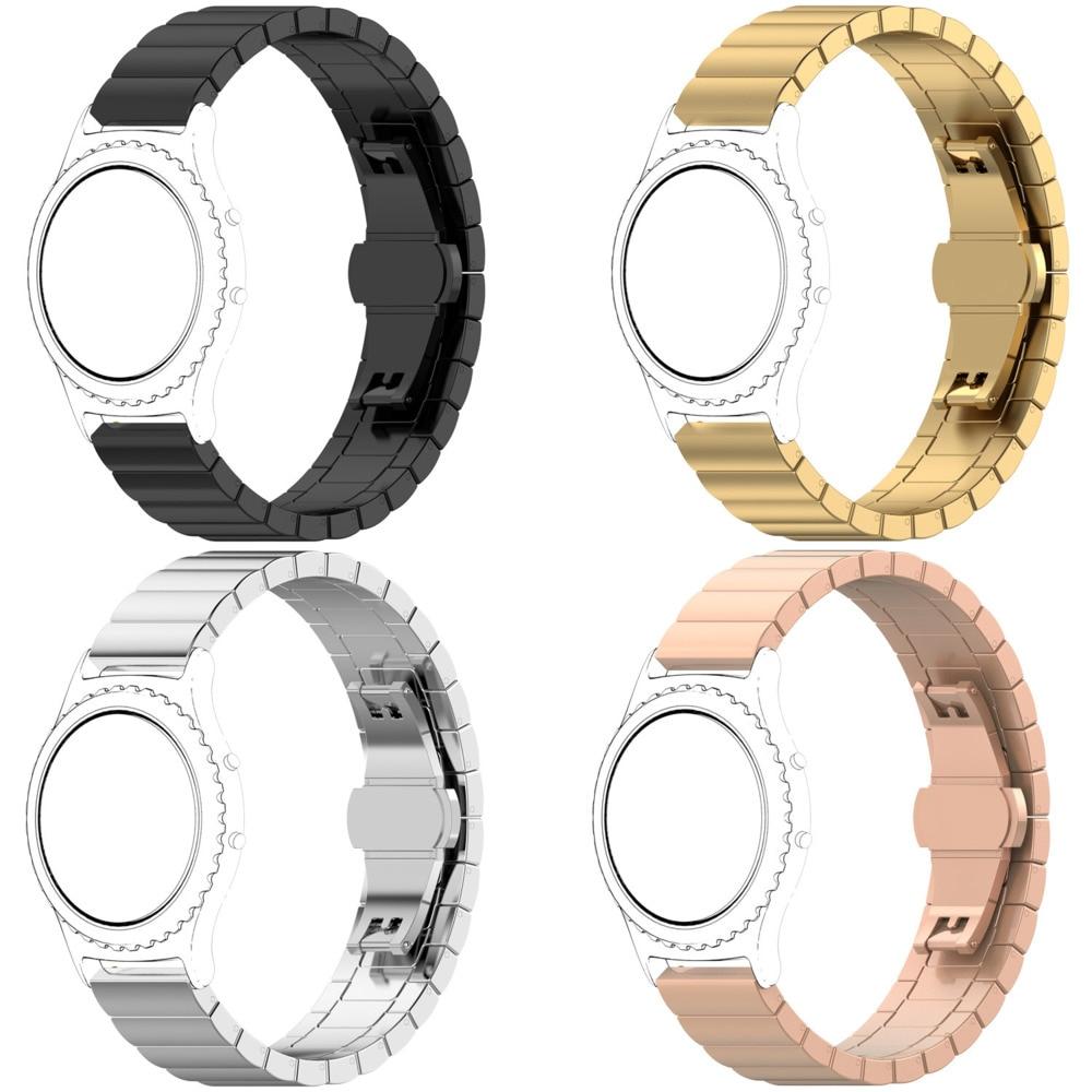 สายนาฬิกาข้อมือสแตนเลส 22 มม. 20 มม. 16 มม. สําหรับ Samsung Casio Brap One Butterfly
