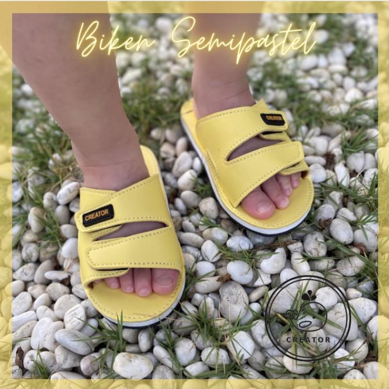 รองเท้าแตะเด็ก CREATOR (Biken Semipastel Collection) Kids รองเท้าแตะสวมเด็ก รองแตะเด็กแบบสวม รองเท้าเด็ก รองเท้าสวมเด็ก