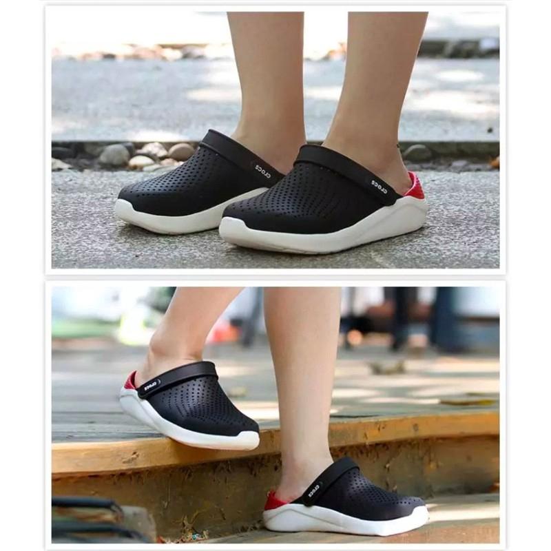 [จัดส่งในสต็อก] Sandals CrocsLiteRide รองเท้าชายหาดรองเท้า Unisex ของแท้