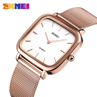 SKMEI Official Stainless Steel Watch Casual Simple Women Watches