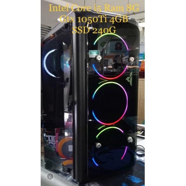 คอมพิวเตอร์เล่นเกมส์ Core i5 Gen6-7 การ์ดจอ GTX 1050ti  SSD  มือสองราคาประหยัด