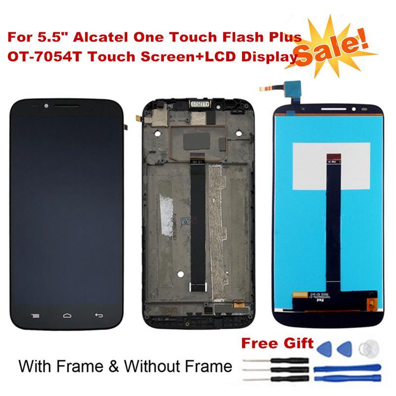 For Alcatel A30 Fierce OT5049 5049 5049Z Revvl 5049W Phone Middle frame  Housing Black No LCD Repair Parts Middle Frame
