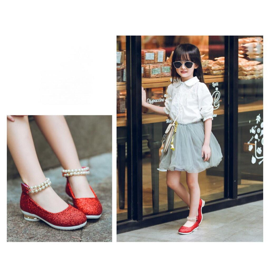 shoe14201 รองเท้าคัชชูเด็กสีแดง รองเท้าคัชชูเด็กเล็ก รองเท้าคัชชูเด็กโต (ยาว=ความยาวพื้นในรองเท้า) รองเท้าออกงานเด็ก 6DR