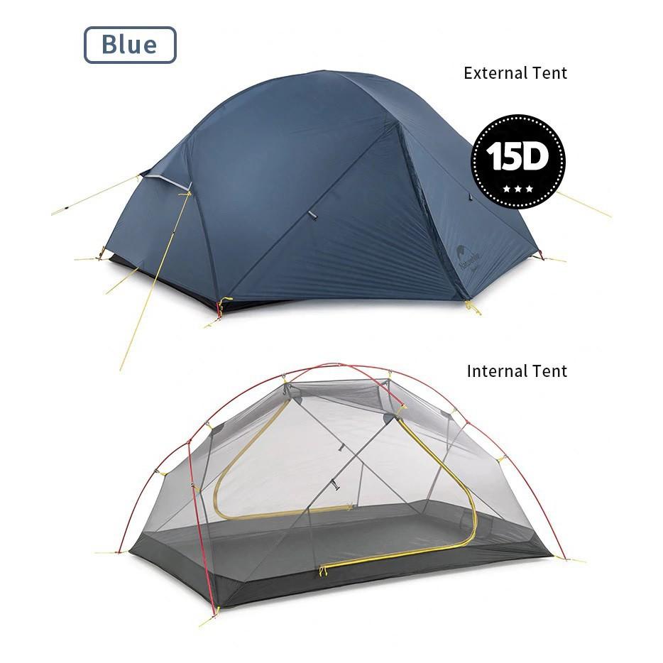 ✟+พร้อมส่ง+ Naturehike Mongar 2 15D tent 3 season เต็นท์ ฤดู สำหรับ คน น้ำหนักเบา เหมาะกับ Outdoor camping
