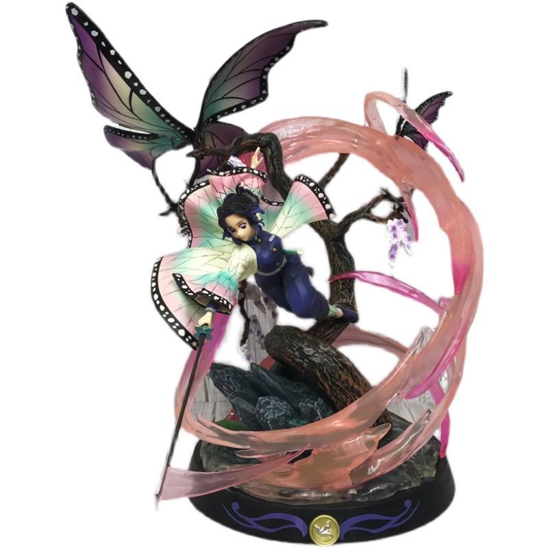 โมเดล demon slayer◇Demon Slayer Blade GK Rubik s Cube Butterfly Ninja Figure Worm Pillar Statue Model Decoration อะนิเมะ