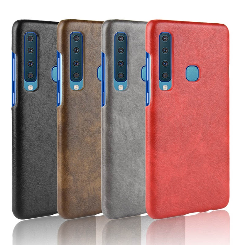 Samsung Galaxy A9 A9S A8 A8S A7 A6S A5 A750 Star Pro Plus 2018 Leather Hard Case Anti-fall Simple Solid Color Back Cover