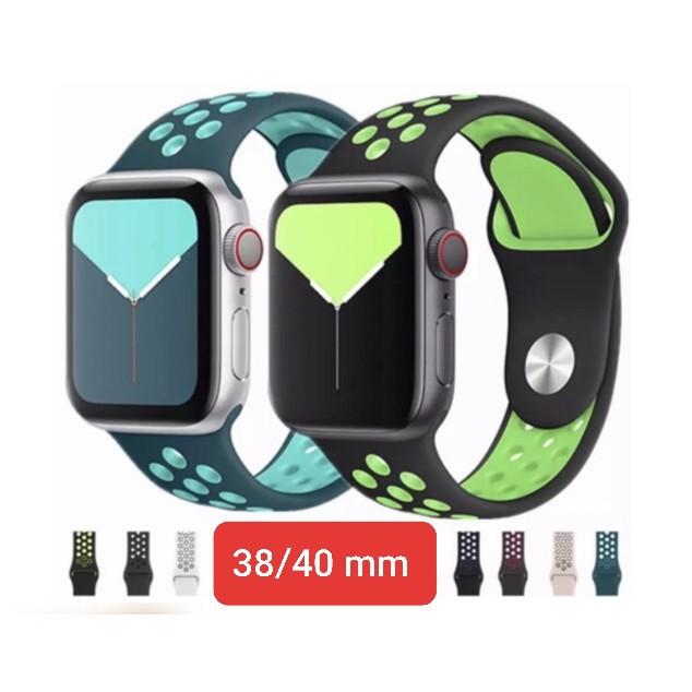 สาย applewatch แท้ สาย applewatch 🔥พร้อมส่งในไทย🌟สีใหม่เข้าแล้ว🌟สายapple watch ซิลิโคน  38/40 mm .ใส่ได้ทุกซีรีย์ S.1