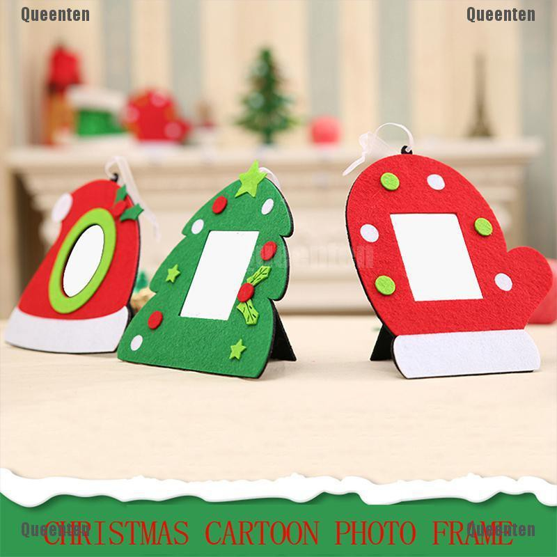 Non-woven Christmas Photo Frame Picture Holder Xmas Tree Hanging Pendant Decor