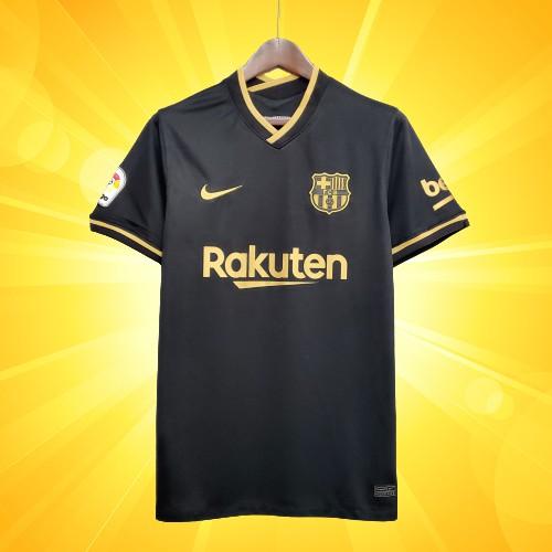 เสื้อบอลบาร์เซโลน่า บาซ่า ทีมเยือน สีดำ 2020-21