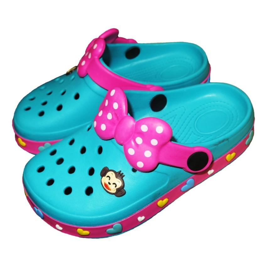 รองเท้าแตะ Prado Gang รองเท้าคัชชู ไฟล่อน สวม เด็กผู้หญิง รุ่น 373 - สี ทะเล