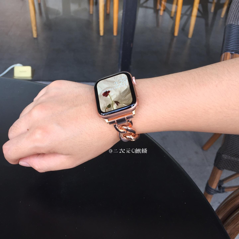 ﹎ΧQqilin สำหรับสาย applewatch iwatch6/SE/5รุ่น Apple Watch สายโลหะสแตนเลส