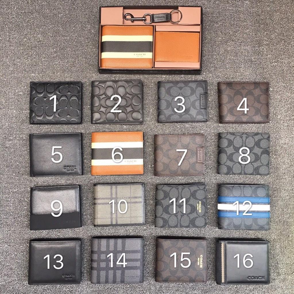 newCOACH กระเป๋าสตางค์ F74634 กระเป๋าสตางค์ coach กระเป๋าสตางค์ใบสั้น กระเป๋าสตางค์ผู้ชาย กระเป๋า ของแท้ 100%
