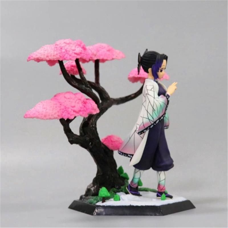 Demon Slayer Kimetsu No Yaiba Figure Kochou Shinobu Kamado Nezuko Tanjirou Zenitsu Cherry Blossom Scene Toy BLwR