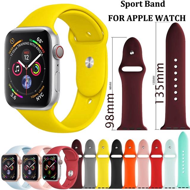 สายนาฬิกาข้อมือซิลิโคน 42 มม. 38 มม. 40 มม. 44 มม. สาย applewatch series 6 5 4 3 2 1