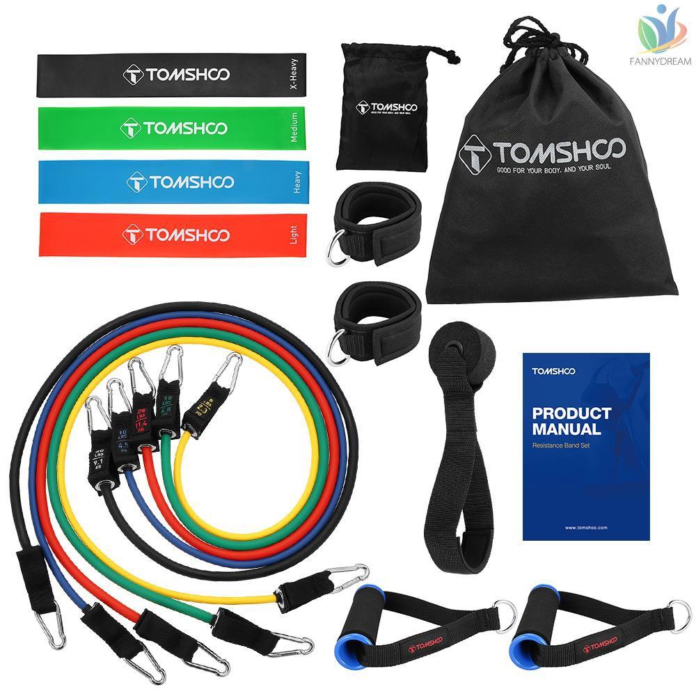 Tomshoo ยางยืดออกกําลังกาย 17 ชิ้น