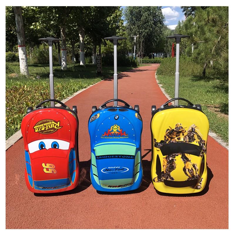 ☮◔กระเป๋าเดินทางเด็ก  กระเป๋ารถเข็นเดินทาง กระเป๋าเดินทางพกพา รถเข็นเด็กกรณีเด็กประถมกระเป๋าเดินทางเด็กการ์ตูนกระเป๋าเดิ