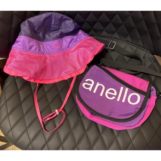 กระเป๋าคาดอก คาดเอว Anello แท้100% พร้อมหมวก เข้าชุดสีเดียวกันเป้ะ