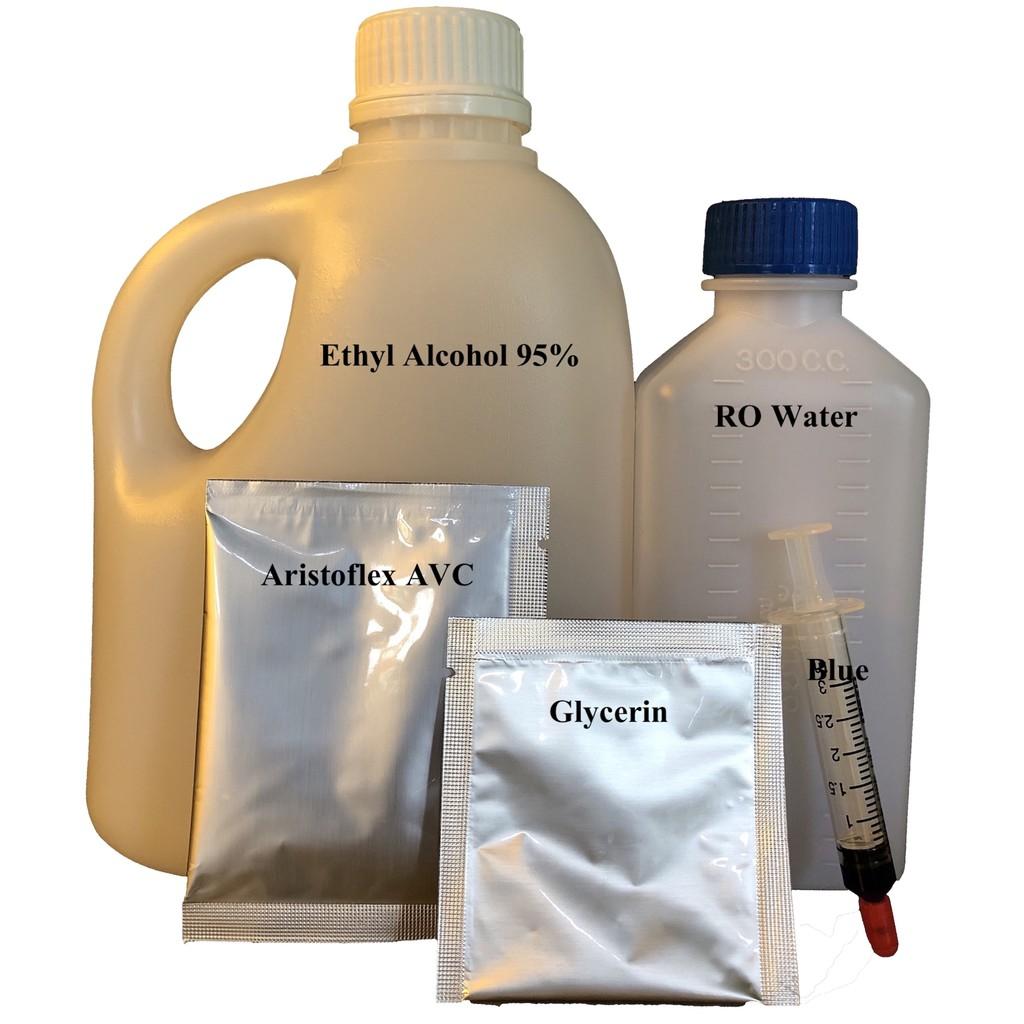 DIY-2:ชุดผสมแอลกอฮอล์เจล ETHYL ALCOHOL 95%(Food grade)+ARISTOFLEX AVC
