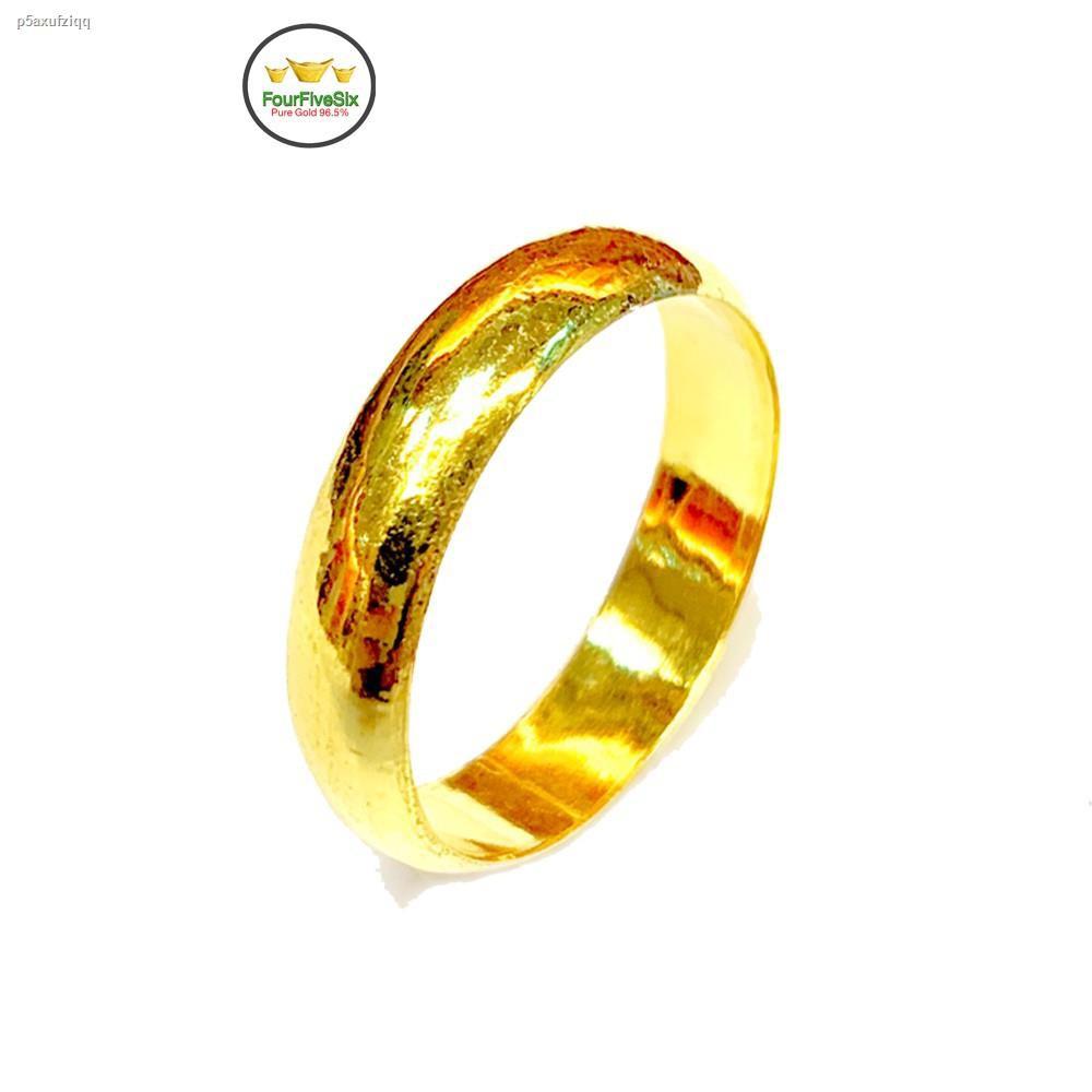 ราคาต่ำสุด⊕FFS แหวนทองครึ่งสลึง ปอกมีดเกลี้ยง หนัก 1.9 กรัม ทองคำแท้ 96.5%