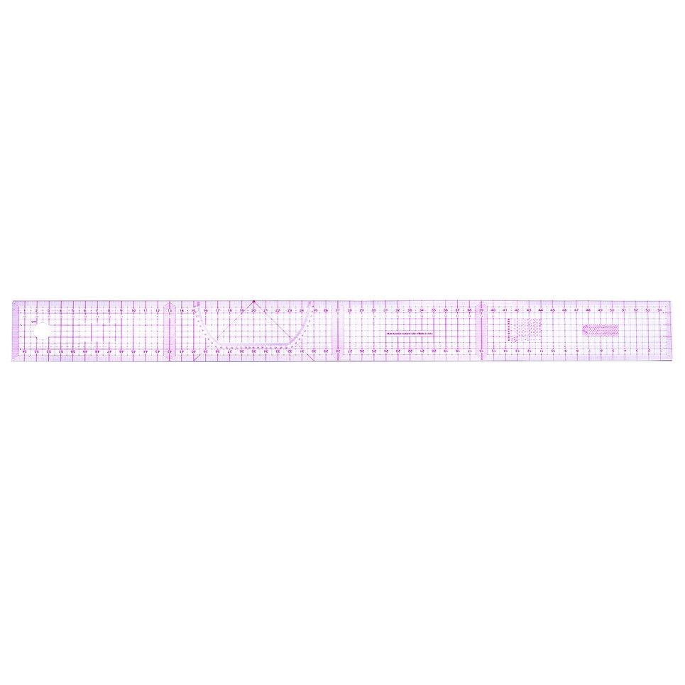 ♡NL* Multi-function Code Ruler Cutting Ruler Sewing Feet Yardstick Clear  ScaleB-55