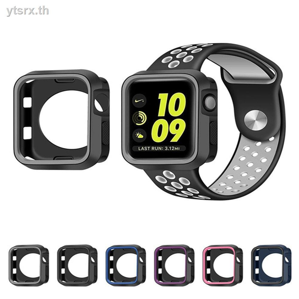 นาฬิกาข้อมือ Apple Watch Seriesพร้อมส่งจากไทย เคส Apple Watchเคส Apple Watch CaseApple watch case 5/4/3 generations two-color shell silicone Nike strap