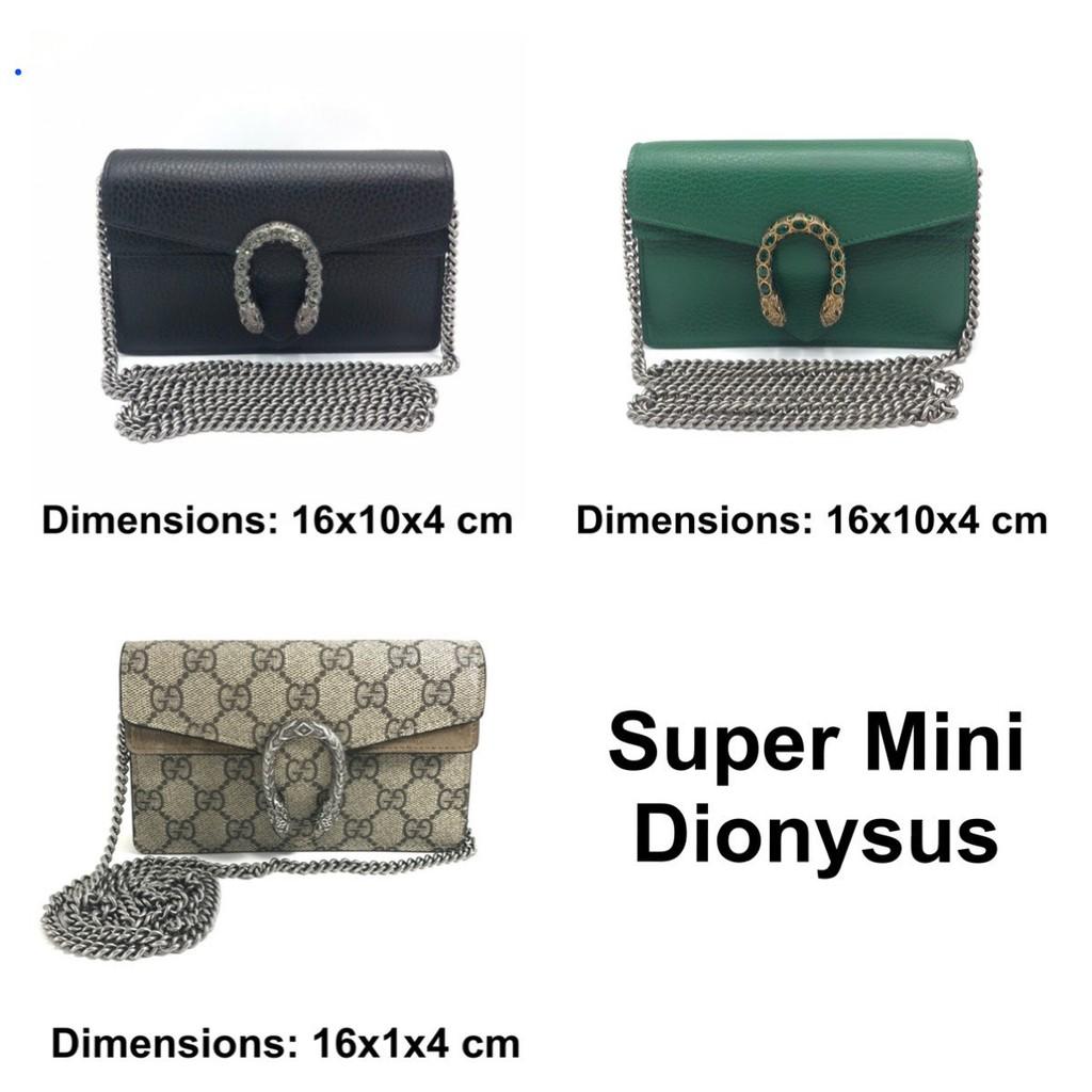 Use like new GUCCI Super Mini Dionysus ของแท้ 100% [ส่งฟรี]