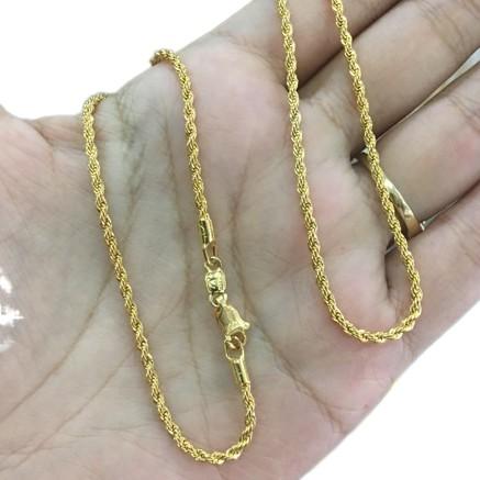 ✼▤✱สร้อยคอลายเกลียวทองไมครอน หนัก 1 สลึง ทองไมครอน ชุบทองคำแท้ สร้อยคอสวย ราคาเฉพาะสร้อย ไม่มีจี้⚡️