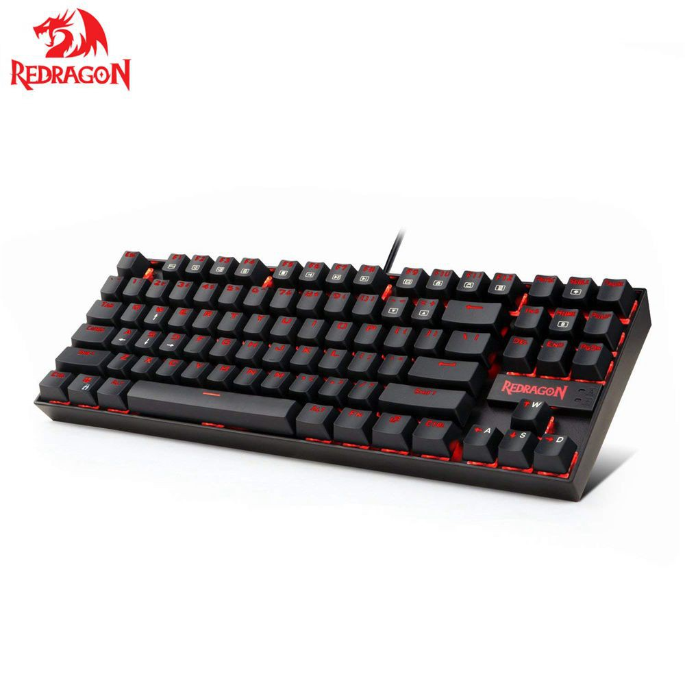 Redragon K552 KUMARA Mechanical Gaming Keyboard 87 Keys Red Backlit Gamer Keyboard