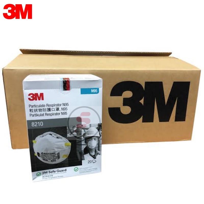 หน้ากาก3Mรุ่น8210 N95 (ลังบรรจุ 160 ชิ้น) มีทั้งหมด 5 ลัง กทม นัดรับสินค้าได้