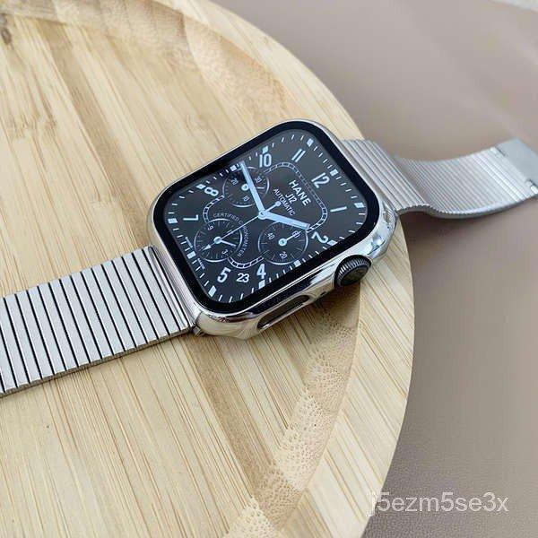 สาย applewatch ใช้ได้กับ Applewatch5 / se สายสแตนเลสสตีลสร้างสรรค์ iwatch1-6 รุ่นสายโซ่โลหะบุคลิกภาพแนวโน้ม 4