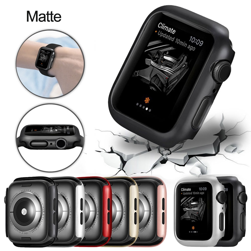 Matte Cover For Apple Watch Series 6 5 4 38Mm 42Mm 44Mm 40Mm Frame Protective Case Cover Shell Bumper Case For Iwatch 6 5 4 Cover