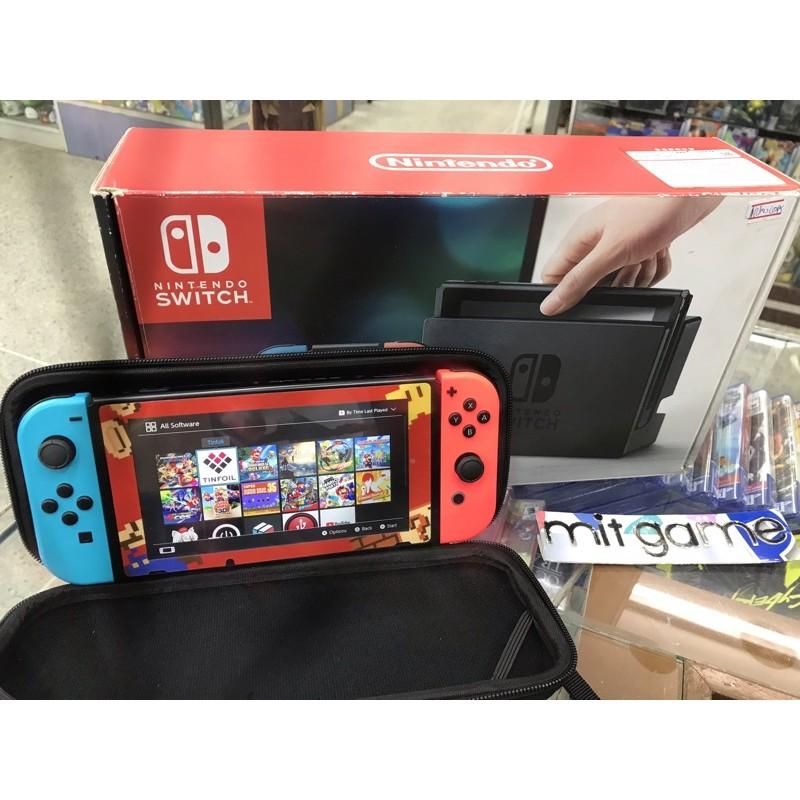 ขายNintendo switch มือสองมีเกมในเครื่องอยู่แล้ว10เกม