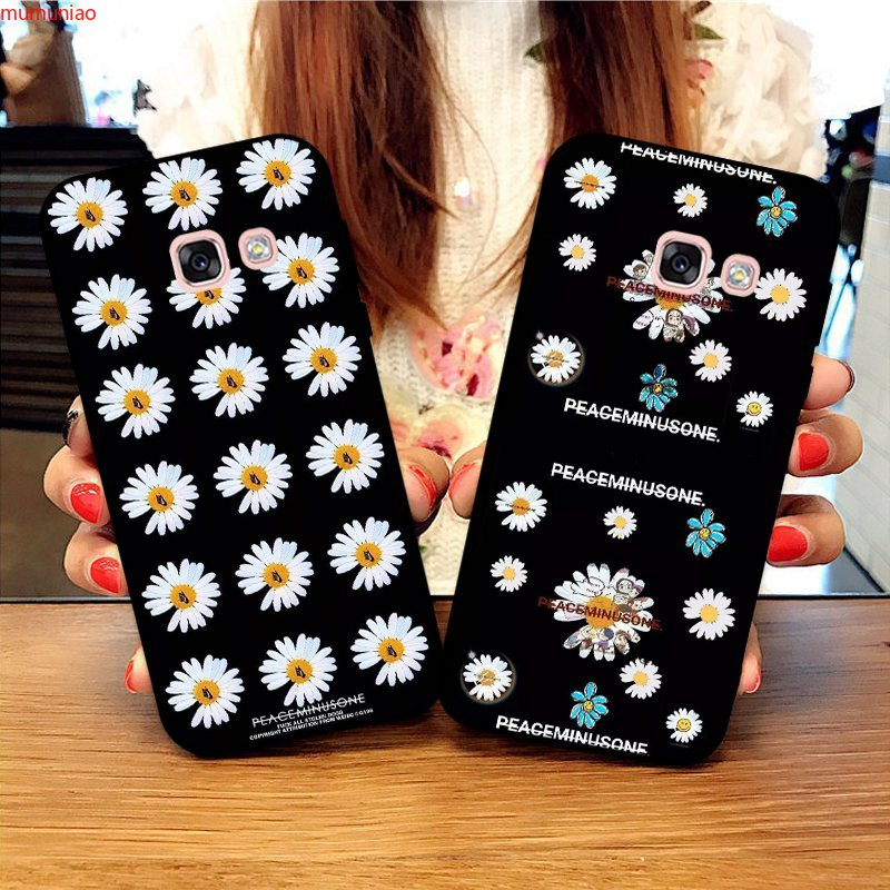 Samsung A3 A5 A6 A7 A8 A9 Pro Star Plus 2015 2016 2017 2018 Daisy Pattern-4 Silicon Case Cover