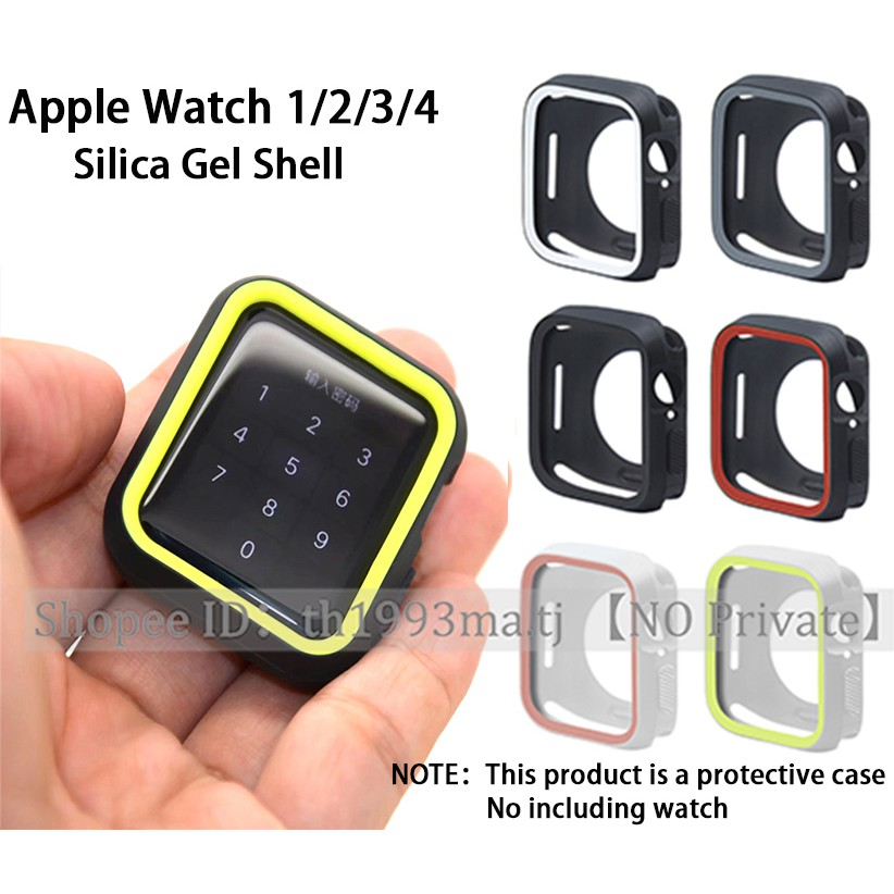 Apple Watch 1/2/3/4/5/6 Case, เคสซิลิโคน, เคส Apple Watch Soft Case